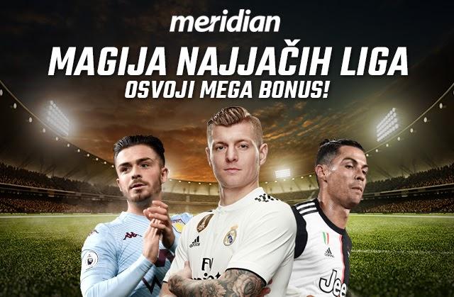 Meridianbet: Magija najjačih liga i mega bonus