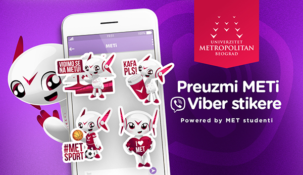 METi Viber stikeri powered by MET studenti