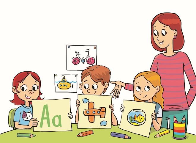 Polazak u školu (ilustracija Dušana Pavlića)