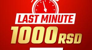 Meridianbet - 1000 RSD - Last Minute