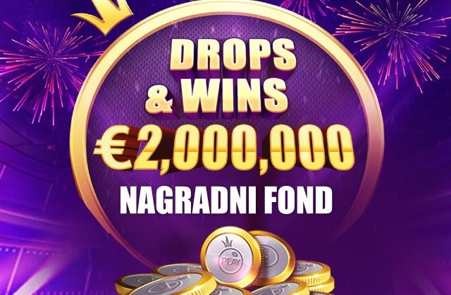 Drops & Wins: Igraj omiljeni slot i u igri si za čak dva miliona evra