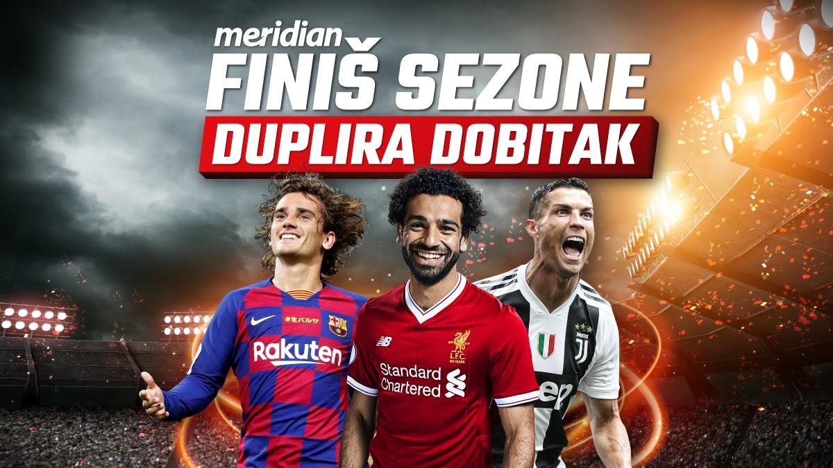 Meridianbet: Najbolji evropski fudbal donosi ti 10.000 dinara na poklon