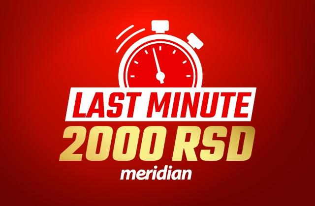 Zabava zagarantovana - Meridian ti poklanja 2000 RSD za klađenje i kazino igre