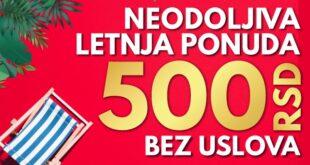 Meridianbet: 500 dinara na poklon za savršen početak