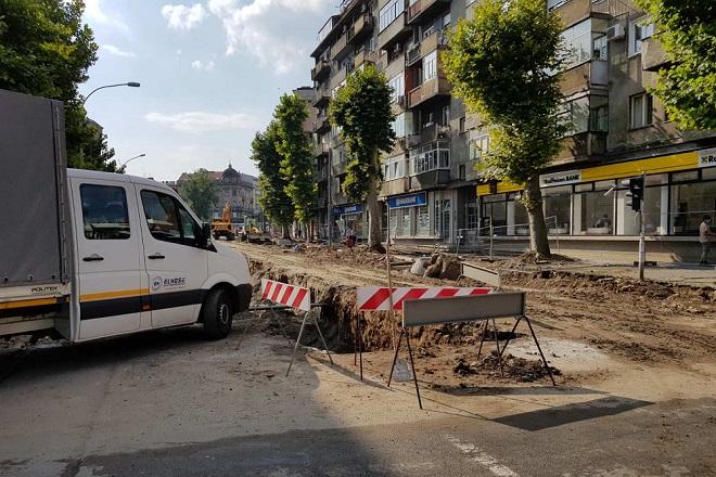 Radovi u Ulici cara Dušana (foto: Milan Miljević)