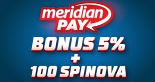 Uplati depozit putem Meridian Pay-a jer te čekaju neverovatni bonusi