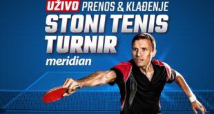 Spektakl: Počeo je Meridianbet Cup u stonom tenisu, kladi se UŽIVO!
