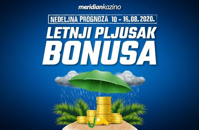 Letnji pljusak bonusa u Meridian kazinu je prilika koja se ne propušta!