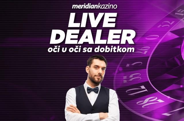 Oči u oči sa dobitkom - Live dealer te čeka u Meridian online kazinu!