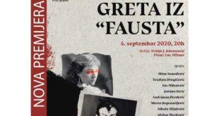 255. premijera Omladinskog pozorišta Dadov: Greta iz Fausta