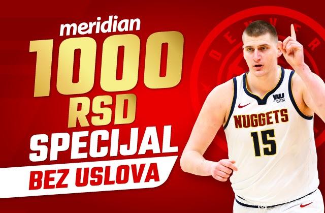 NBA: Budi uz Jokića i Denver - Meridian te časti sa 1.000 RSD bonusa