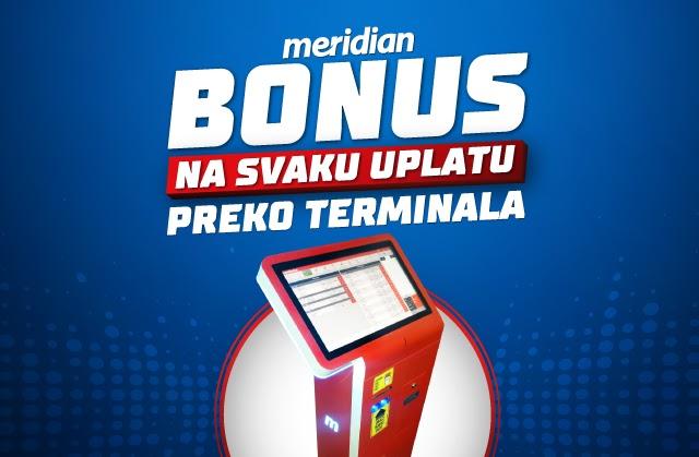 Meridianbet: Popuni tiket na miru - kladi se preko terminala i preuzmi bonus 3% na svaku uplatu