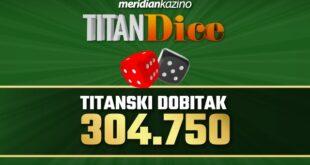 Dve kockice su Marka dovele do VRHUNSKOG DOBITKA u Meridian kazinu