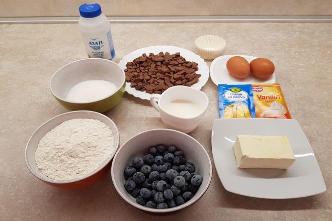Recepti: Mafini sa čokoladom i borovnicama (foto: Milan Miljević)