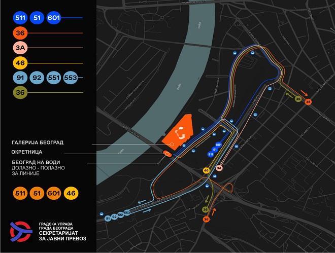 Beograd na vodi: Nova organizacija linija javnog gradskog prevoza