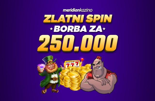 Meridian: Ovaj kazino nagrađuje sa 250.000 dinara (plus besplatni spinovi)