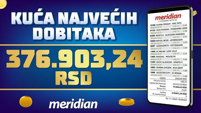 Nova gospodska isplata dobitnog tiketa u Meridianu