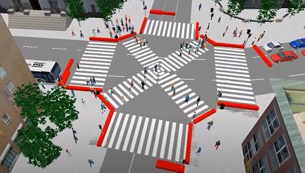 Novi pešački prelaz na uglu Dečanske i Makedonske