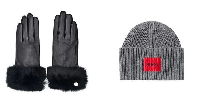 Fashion Company: Liu Jo kožne rukavice i HUGO by Hugo Boss kapa