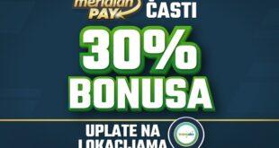 Meridian: Najveći bonus ikada - 30% više za klađenje, svakog dana!