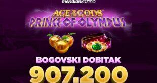 Krunisan novi bog na Olimpu - slot igrica mu upravo isplatila više od 900.000 dinara