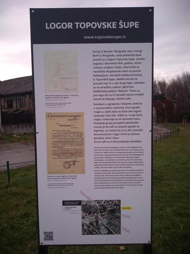 """Info tabla o logoru """"Topovske šupe"""" (foto: Centar za primenjenu istoriju)"""