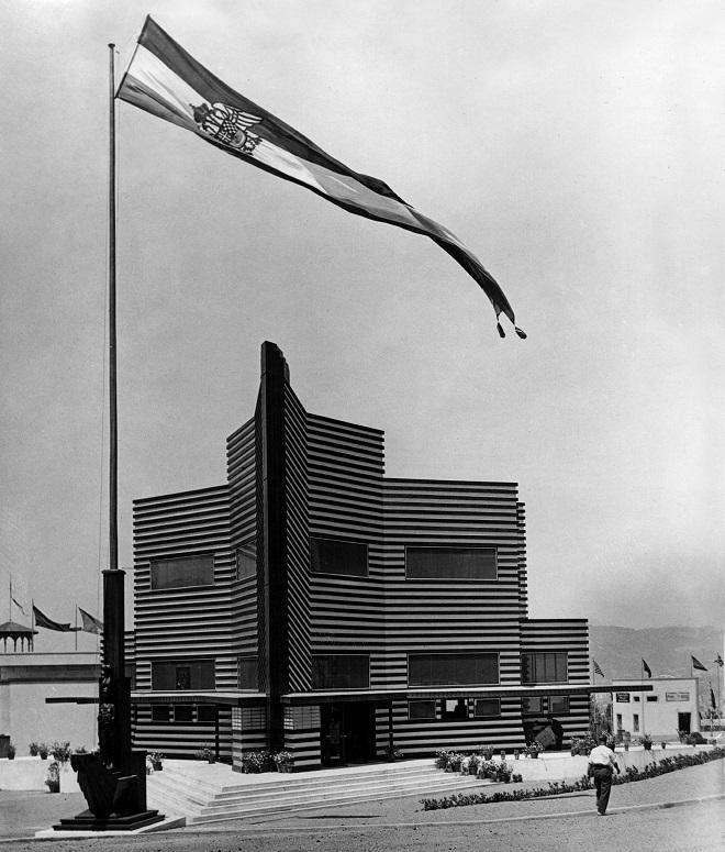Paviljon Kraljevine SHS u Barseloni 1929. godine (fotografija iz Arhiva Srbije)