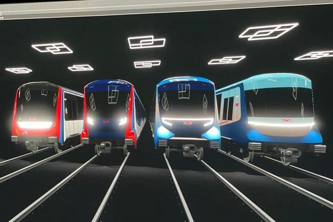 Beogradski metro u bojama srpske zastave (ilustracija: beograd.rs)