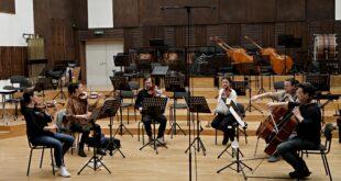 Beogradska filharmonija - proba gudačkog seksteta (foto: Marko Đoković)