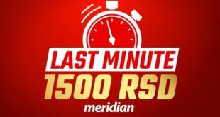 Meridianbet: POKLON BEZ USLOVA - Preuzmite 1.500 dinara za sportsko klađenje