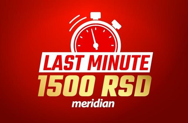 Meridianbet: Ne čekaj maj i 30 evra - možeš odmah da uzmeš 1.500 dinara