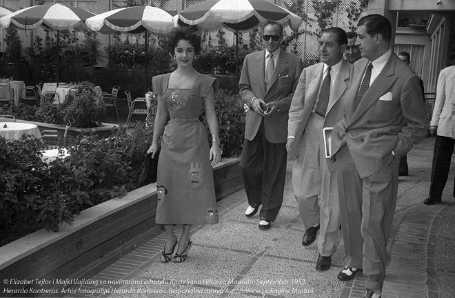 Elizabet Tejlor i Majkl Vajlding (Arhiv fotografija Herardo Kontreras. Regionalna arhiva Autonomne pokrajine Madrid)