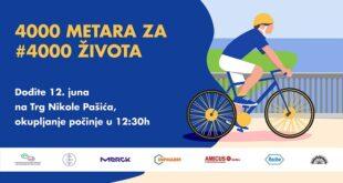 Biciklistička vožnja: 4.000 metara za 4.000 života
