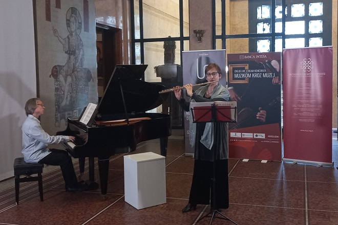 Muzikom kroz muzej: Stana Krstajić i Uki Ovaskainen (foto: IMS)