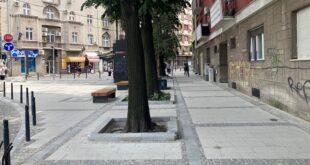 Rekonstruisani skver na uglu Njegoševe i Maksima Gorkog (foto: beograd.rs)