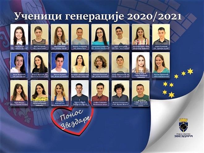 Fotografije zvezdarskih đaka generacije na deset bilborda u Beogradu