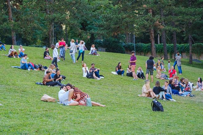 Jugoslovenske revolucionarne pesme u parku Muzeja Jugoslavije (foto: Nemanja Đorđević)