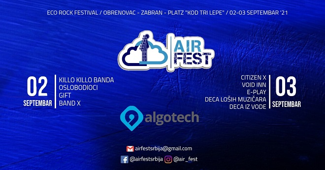 Eko-rok festival Air Fest 2021 u Zabranu