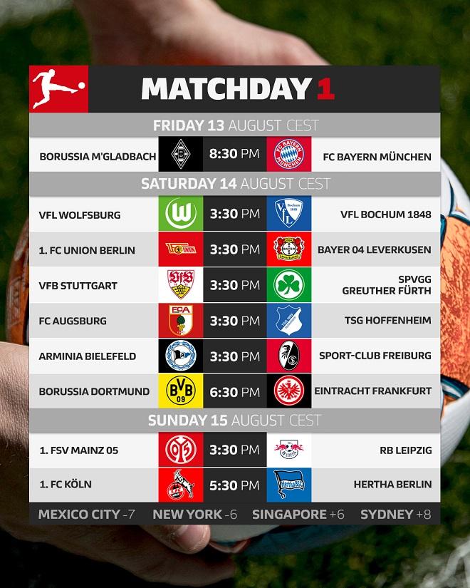 Bundesliga - 1. kolo