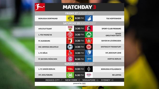 Fudbal - Bundesliga 2021/22, 3. kolo