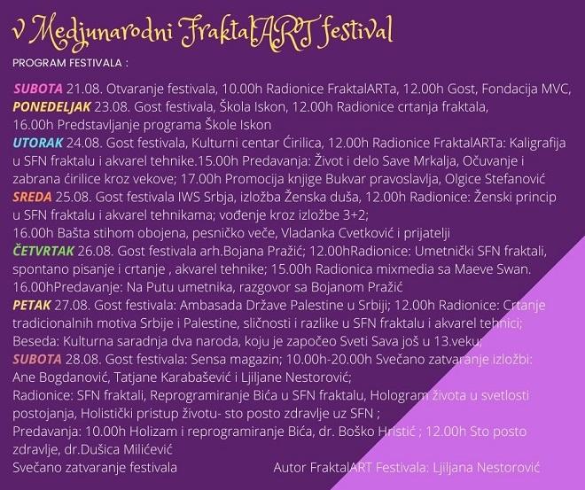FraktalART festival - program