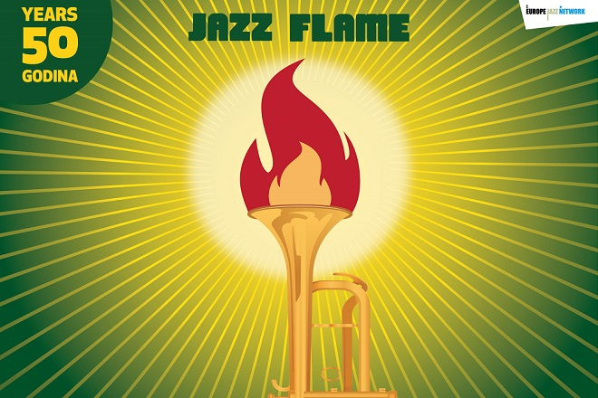 37. Beogradski džez festival: Džez plamen / Jazz Flame (detalj sa plakata)