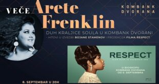 "Veče Arete Frenklin u Kombank dvorani: Bojana Stamenov i film ""Respect"""