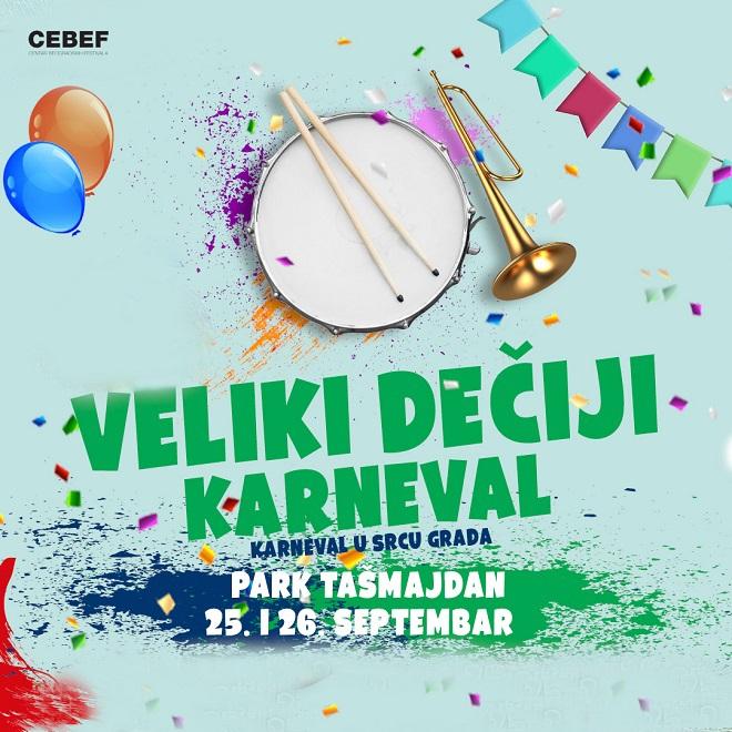 Veliki dečiji karneval u parku Tašmajdan