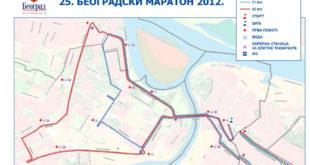 Beogradski maraton - mapa