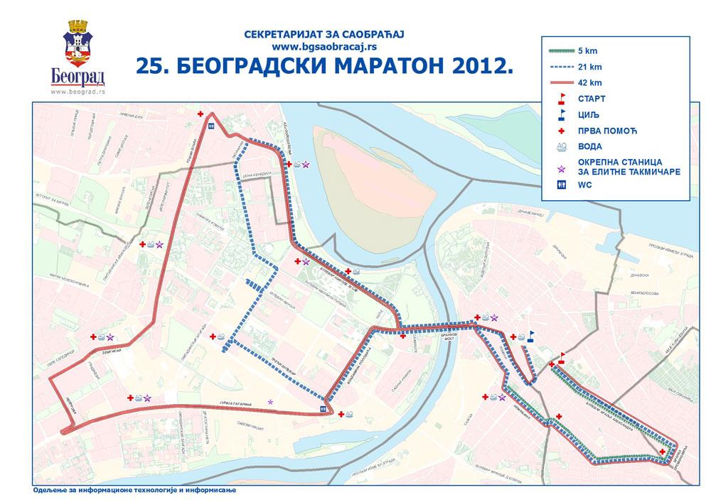 Izmena Rezima Saobracaja Za Vreme Odrzavanja Maratona Dan U Beogradu